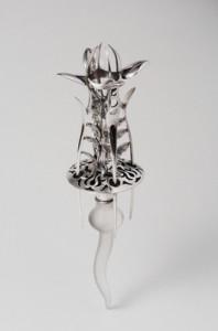 植物系列-懸吊式擺件 2002-20cm-925銀+壓克力
