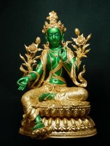 編號10 鎏金彩-綠度母