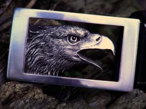 編號7 純銀帶扣-鷹