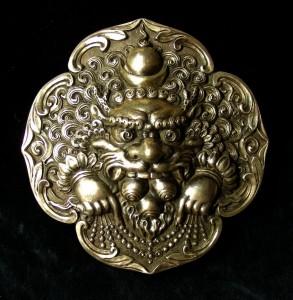 編號8 純銀帶扣-雪獅-1-12